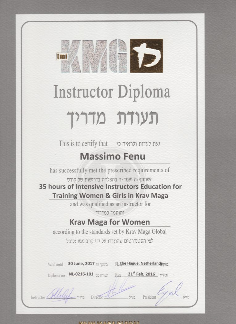 diploma istruttore krav maga per donne
