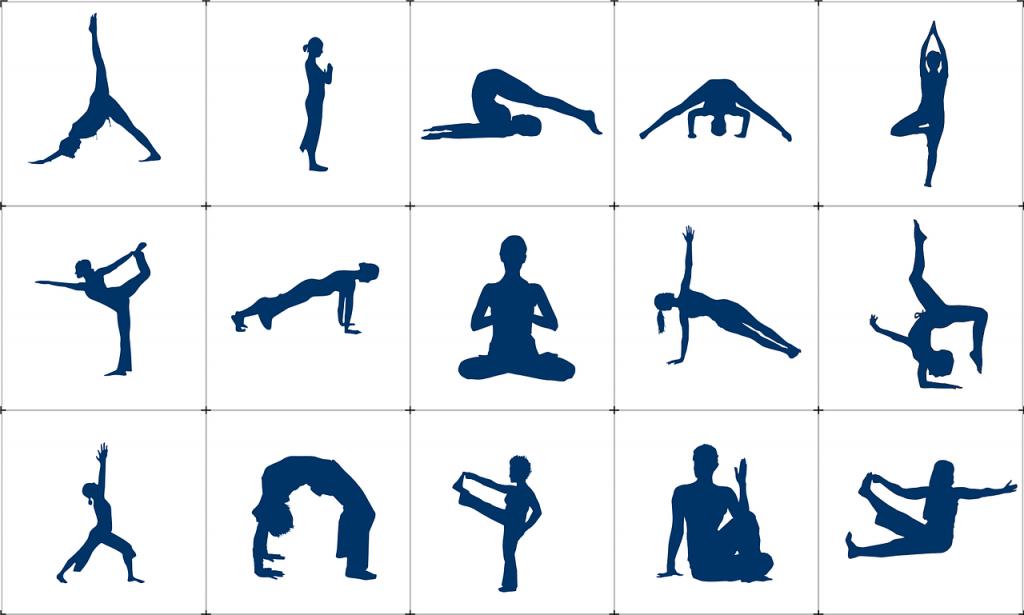 Alcune posizioni dello Yoga