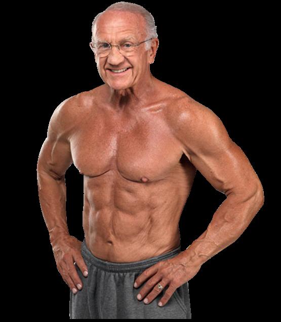 atleta anziano di bodybuilding